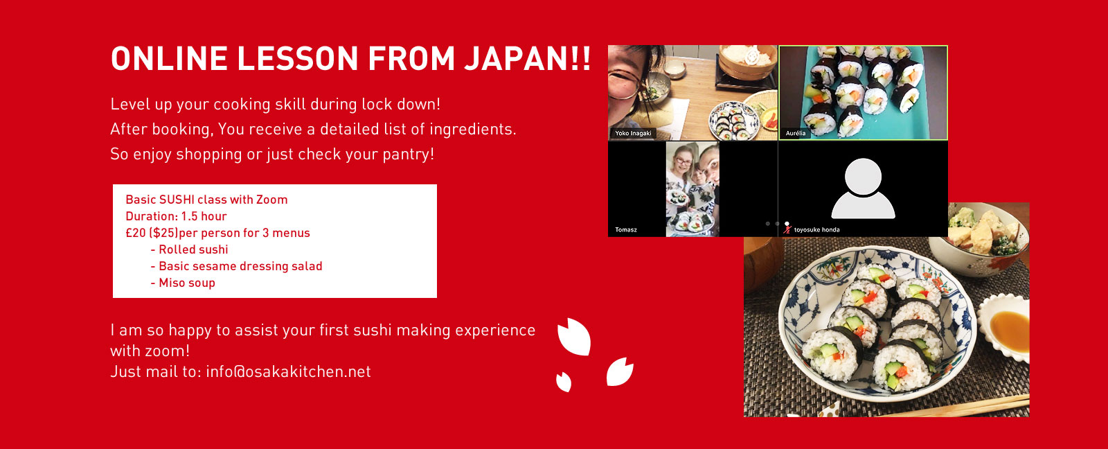 ONLINE LESSON FROM JAPAN!!